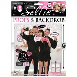 Bridal Party Selfie Props & Backdrop