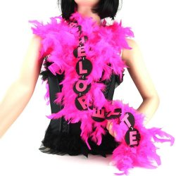 Flashing 6 ft Bachelorette Party Feather Boa - Pink