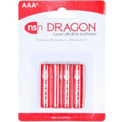 Dragon Alkaline Batteries - AAA - 4 pack