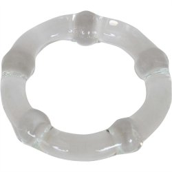 Cocky Boys Glass Cockring - Clear Sex Toy
