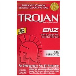 Trojan Enz Non-Lubricated - 12 Pack