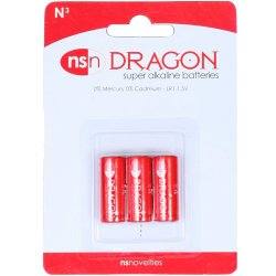 Dragon Alkaline Batteries - N - 3 pack
