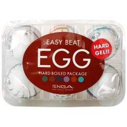 Tenga Easy Beat Egg 6 Pack - Hard Boiled