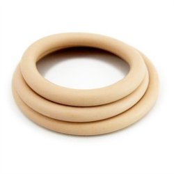 M2M Nitrile Cock Ring - Pack of 3 - Nude