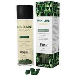 EXSENS of Paris Organic Massage Oil w/Stones - Aventurine Avacado