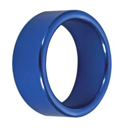 TitanMen: Metal Cock Ring Xtra Thick - Size: 40 mm - Blue