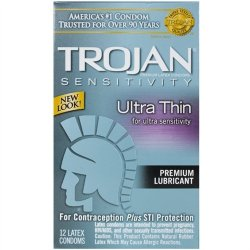 Trojan Ultra Thin Lubricated - 12 Pack