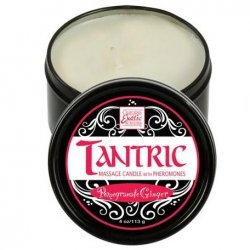 Tantric Soy Candle With Pheromones - Pomegranate Ginger