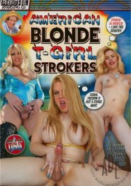 American Blonde T-Girl Strokers Porn Video