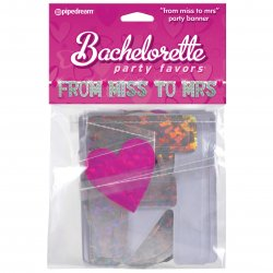 "Bachelorette Party Favors ""From Miss to Mrs"" Party Banner"