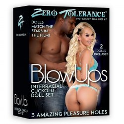 Zero Tolerance Blow Ups - Interracial Cuckold Doll with DVD & Lube