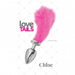 Love Tails: Chloe Silver Plug with Short Pink Tail - Small