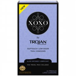Trojan XOXO Softouch Low-odor Thin Condoms - 10-Pack