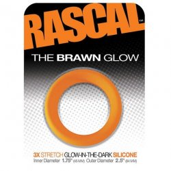 Rascal: The Brawn Cockring - Glow in the Dark - Orange