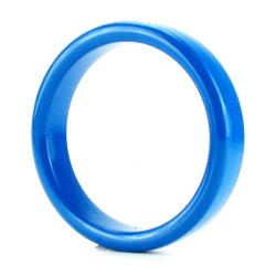 TitanMen Metal Cock Ring - Medium - Blue Sex Toy