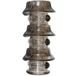 Dr. Joel Kaplan Beaded Girth Ring - Triple Stacker - Smoke