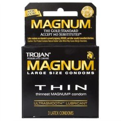 Trojan Magnum Thin Lubricated - 3 Pack
