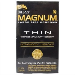Trojan Magnum Thin Lubricated - 12 Pack