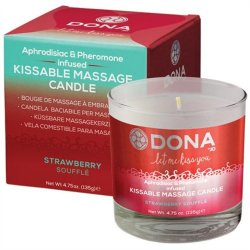 Dona Kissable Massage Candle - Strawberry Souffle - 4.75oz.