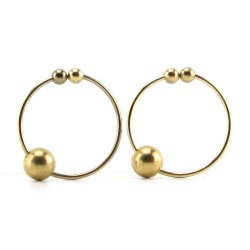 Fetish Fantasy Nipple Bull Rings - Gold Sex Toy