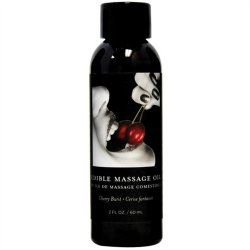 Earthly Body Edible Massage Oil - 2oz -  Cherry