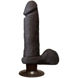 "The Vibrating Realistic UR3 Cock - 8"" Black"