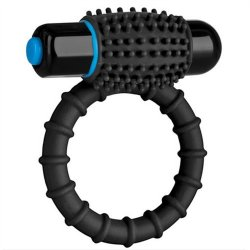 Optimale: Silicone Vibrating C-Ring - Black