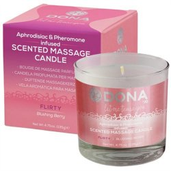 Dona Scented Massage Candle - Blushing Berry - 4.75oz.