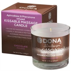 Dona Kissable Massage Candle - Chocolate Mousse - 4.75oz.