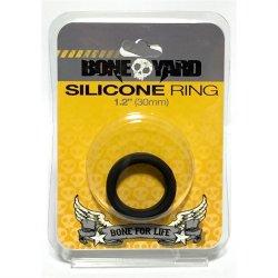 """Boneyard Silicone Ring - 1.2"""" (30 mm) - Black"""