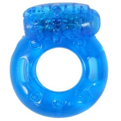Stay Hard: Reusable Vibrating Cock Ring - Blue