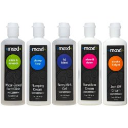 Mood: Pleasure For Him Gels - 5 Pack - 1 oz. ea.
