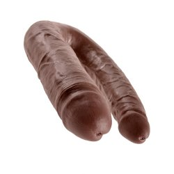King Cock: Large Double Trouble - Brown