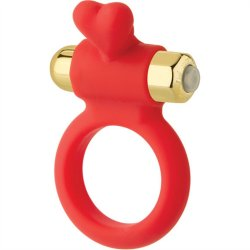 Wonderland: The Heavenly Heart Silicone C-Ring - Red