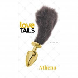 Love Tails: Athena Gold Plug with Short Black Tail - Small