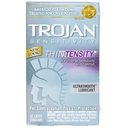 Trojan Thintensity Lubricated - 12 Pack