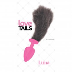 Love Tails: Luna Pink Plug with Short Black Tail - Small